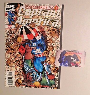 Captain America #8 Marvel Comics VF/NM Signed by Writer Mark Waid!