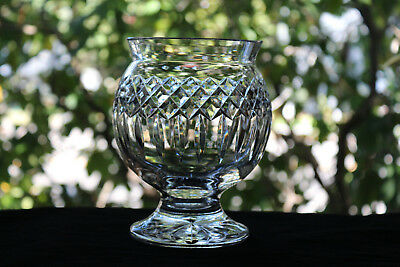 Waterford Irish Crystal Footed Vase, Signed