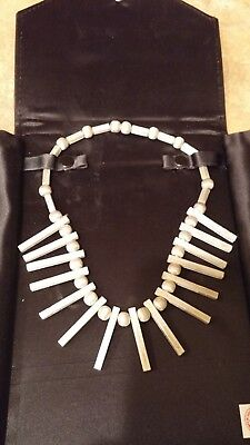 Vintage Taxco Mexican Sterling Silver Modernist Matte Signed Necklace 44.9 Grams