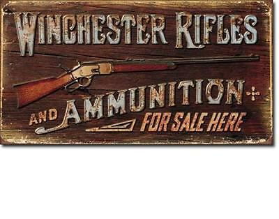 Winchester Rifles USA Vintage Design Sold Here Schild