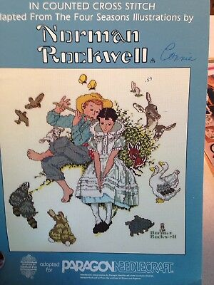 Norman Rockwell Cross Stitch Booklet