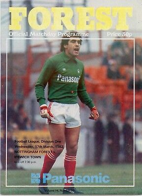 1981-82 Nottingham Forest v Ipswich Town Football League Division One