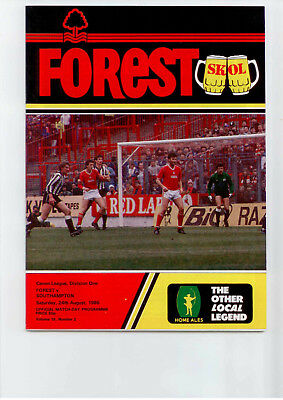 1985-86 Nottingham Forest v Southampton Canon League Division One