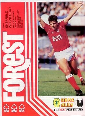 1986-87 Nottingham Forest v Sheffield Wednesday Today League Division One
