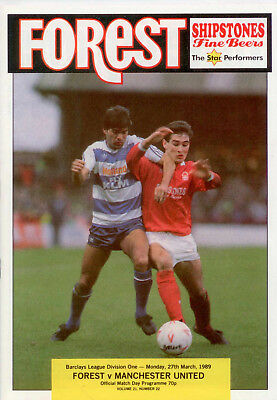 1988-89 Nottingham Forest v Manchester United Barclays League Division One