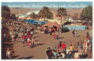 Indio CA National Date Festival and Riverside County Fair Postcard  - California