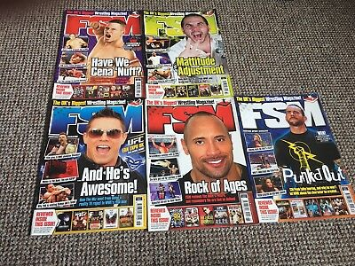 WWF/ WWE, Joblot Of 5 Uk FSM Magazines,WCW,ECW,TNA,