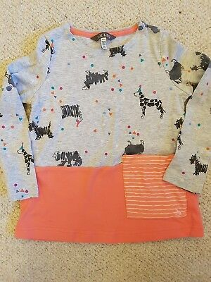 Joules girls age 5-6 tunic. Excellent condition.