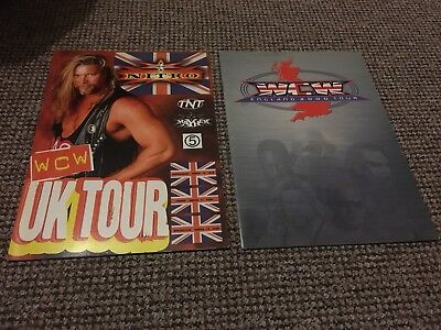 WCW PROGRAMS UK TOUR, Nitro,Thunder Rare With StubsWWE,WWF,,ECW