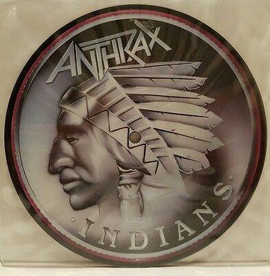 "Anthrax ""indians"" Uk 7"" Picture Disc Ex"