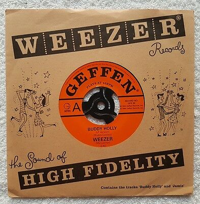 "Weezer Buddy Holly Uk 7"" Vinyl"