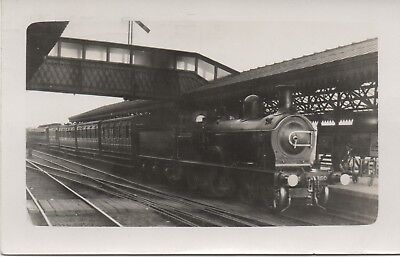 Interesting c1925 RP: Great North of Scotland Railway train at station