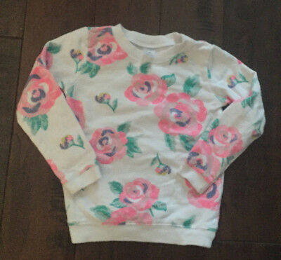 Carter's White Pink Floral Long Sleeve Top Size 4