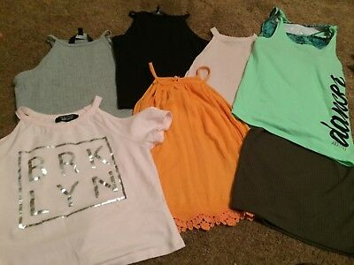 GIRLS CLOTHES BUNDLE -AGE 1o-11 Tops New Look H&M Justice (USA)