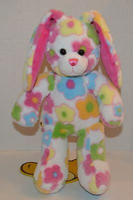"""Build A Bear Blossom Bunny Rabbit BABW 18""""Easter Plush Retired Floral (58)"""