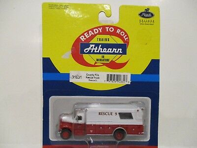 Athearn Ho Scale County Fire Department Rescue Squad - Rescue #9 - New On Card!