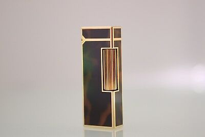 Dunhill Lighter, Tortoise Shell Lacquer, Yellow Gold, Near Mint Condition