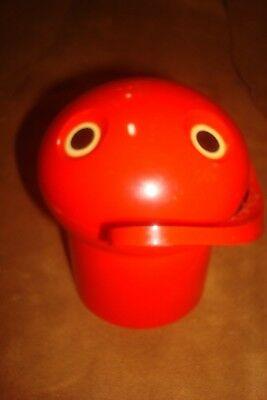 Vtg Je Je Pac man red toy bank by Tomy Fancy
