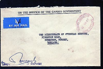 Gambia : Directorate Of Overseas Surveys May 1970 Commercial Mail Envelope.