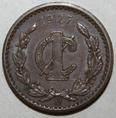 KEY DATE!  Mexican 1 Centavo Coin, 1927 - KM# 415 - Mexico - One  KEY DATE!