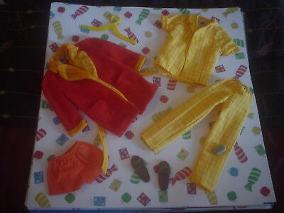 Ken Doll Mod Era Breakfast At 7 Vintage Barbie Clothes Nr Mint And Complete