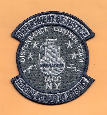 S29 * Fbop Ny Grenadier Dct Bureau Prisons Federal Agent Sort Police Patch Fbi