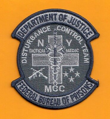 S32 * Fbop Ny Medic Dct Bureau Prisons Federal Agent Sort Police Patch Fbi
