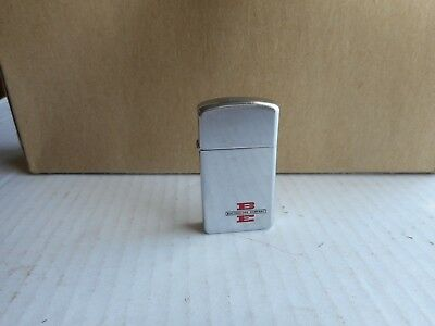 1965 Zippo Slim Advertising BE Bucyrus Erie Company Lighter
