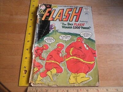 The Flash 115 silver age comic Fr/G cover separated from book fat