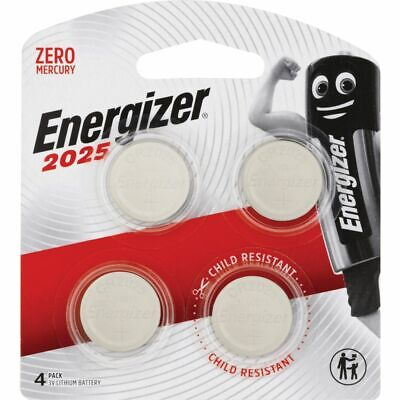 Energizer 2025 Lithium Coin Batteries 4 Pack