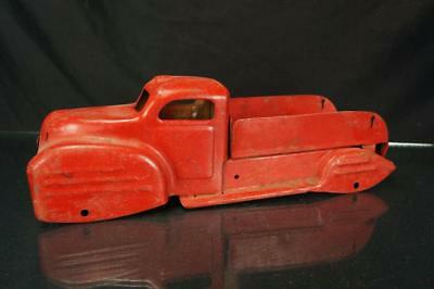 Vintage Marx? Pressed Steel Red Pick Up Truck Toy Body For Restoration Or Parts
