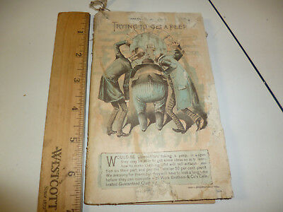 Work Bros Mens Clothing Antique Catalogue 1889 160 Pages with Price List