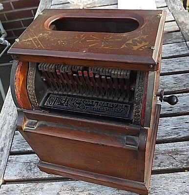 Rare Early Example Organina Musical Marvel Organette C1870S Original Paint
