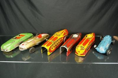 Lot Of Vintage Marx Tin Wind Up Race Car Bodies For Parts Or Restoration Racers