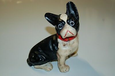 "Vintage Cast Iron French Bulldog Bank Doorstop 7"" tall x 6"" wide 5lb. 5oz."