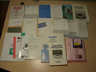 lot of vintage PC manuals and drivers - Tandy ATI PS/2 8088-pentium