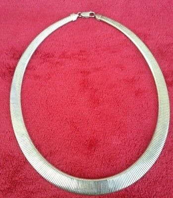 Vintage sterling silver 925 Milor snake choker necklace heavy piece
