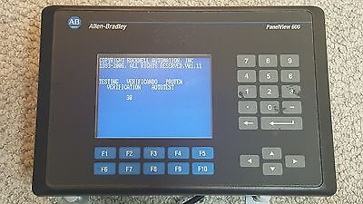 Allen Bradley 2711-B6C5 /C PanelView 600 Touch Screen / Keypad FRN 4.48, RS232