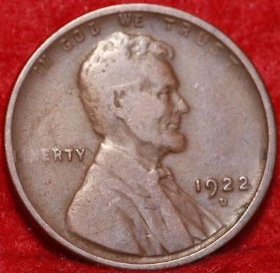 1922-D Denver Mint  Lincoln Wheat Cent Free Shipping