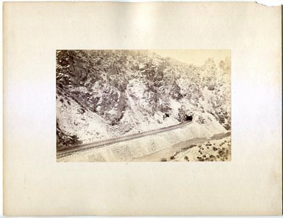William Henry Jackson High Line Canal Platte Canon Colorado 1880s Albumen Photo