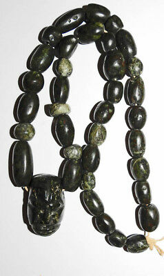 Ancient Mayan Royal Jade Necklace Exceptional