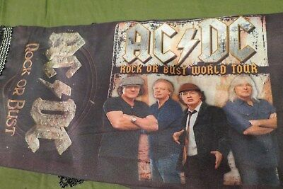 AC DC ROCK OR BUST 2014 SCARF !!!  yeah it's rare....