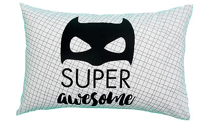Kids Super Awesome Novelty Superhero Pillowcase - Fit's A Standard Size Pillow