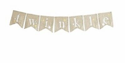 Levtex Baby Night Owl Twinkle Banner Gold