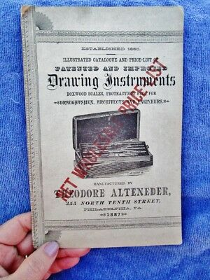 1887 DRAWING INSTRUMENTS Catalog - Theodore Alteneder ANTIQUE ARCHITECT Drafting