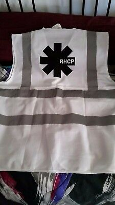New Red Hot Chili Peppers Crew working Vest 2017 tour  size XL white