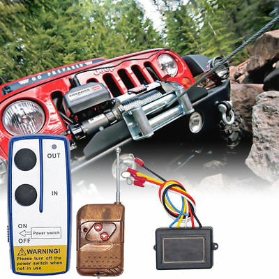 12V Wireless Winch Remote Control Switch Commander Kit for Car ATV SUV UTV BI571