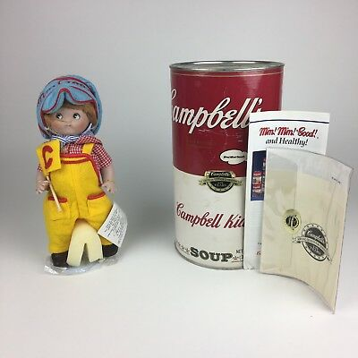 Vintage 1994 Campbell's Soup Kids The Engineer CK-4 Porcelain Doll In Can