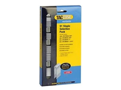 Tacwise 0204 91 Narrow Crown Divergent Point Staples Selection Pack 2800