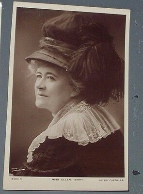 Rotary Photographic Series - Actress Miss Ellen Terry 4493N -real b/w photograph